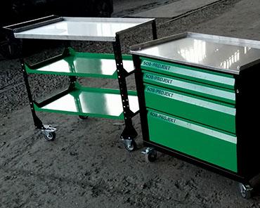 Stolik (stół) narzedziowy, Konstrukcje stalowe Obróbka stali Katowice